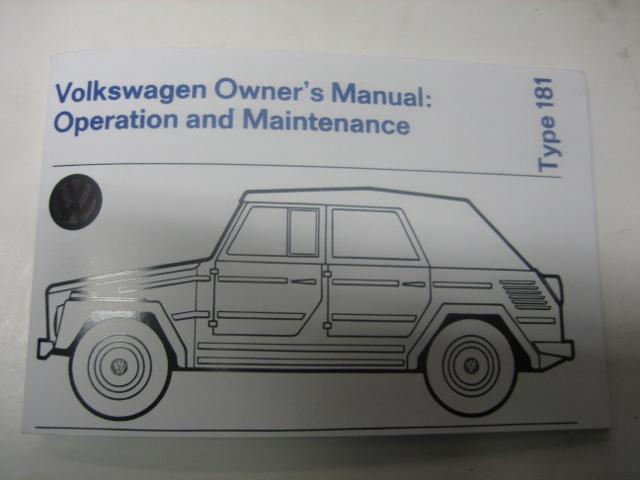 181 OWNERS MANUAL - $28 00 : German Motor Works, VW Thing Parts